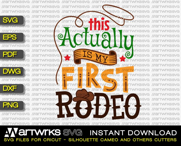 Rodeo SVG files for Cricut and Silhouette Cameo This