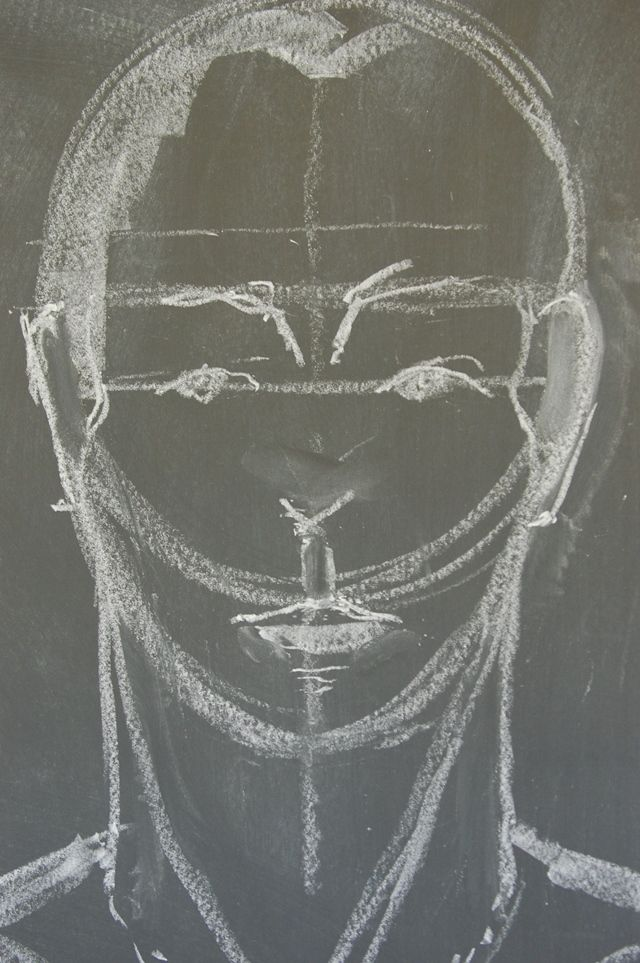 Waldorf ~ 8th grade ~ Human Anatomy ~ Face ~ chalkboard drawing
