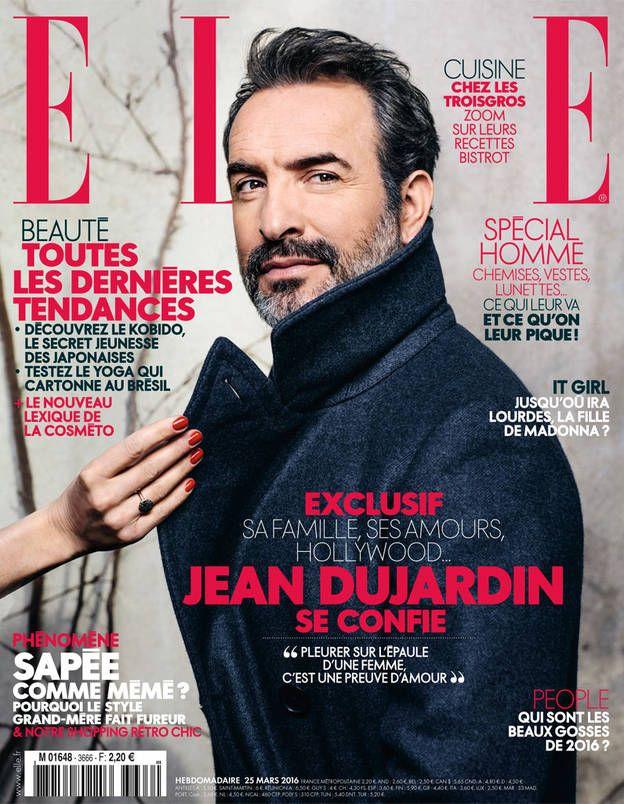 Cette semaine, Jean Dujardin est en couverture de ELLE!