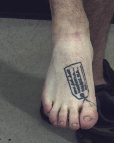 Missing Big Toe Tattoo Mug shots: tattoos · tweet; comments(); share