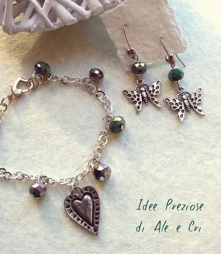 """Braccialetto e orecchini / Bracelet and earrings """"Idee Preziose di Ale e Cri"""""""