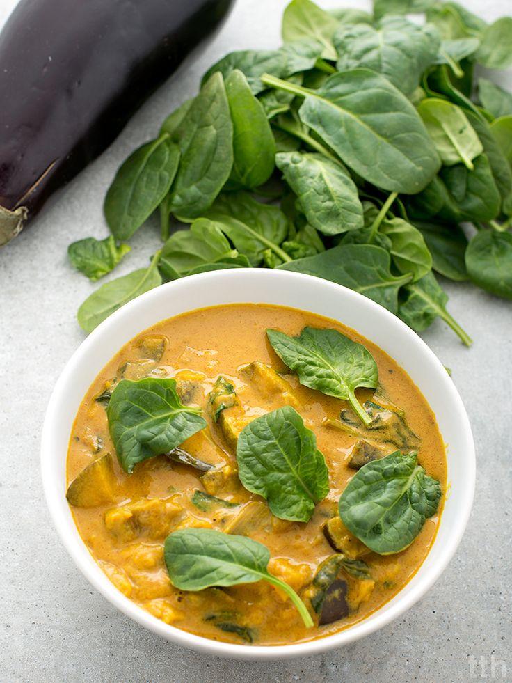 true taste hunters - kuchnia wegańska: Curry z bakłażanem i szpinakiem (wegańskie, bezglutenowe)