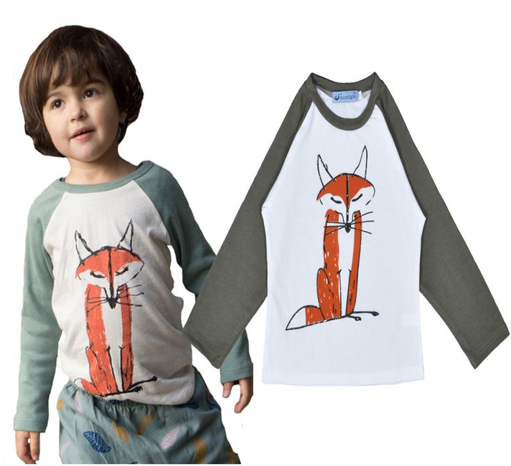 Find More T-Shirts Information about Autumn kids clothing   boys  Long Sleeve Patchwork  Fox Shirt  Inside Cotton  TShirt  boys and girls Clothes roupas bebe menino,High Quality clothing boutique,China clothes for large dogs Suppliers, Cheap clothes lot from online kids on Aliexpress.com