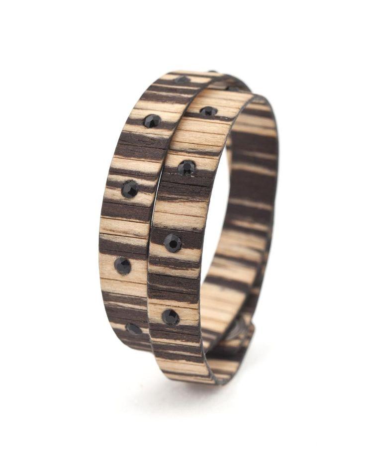 BAD CHIC ZEBRANO BIANCO #bracelet #fashion #woodbracelet #wood #design #madeinitaly