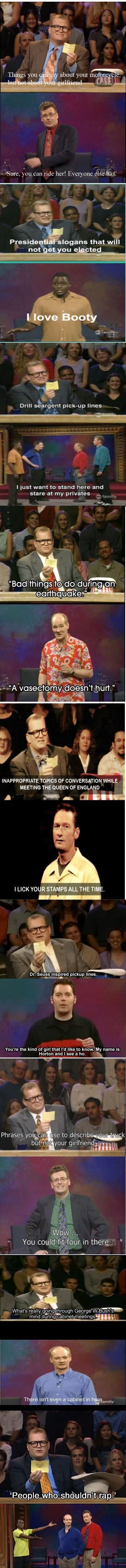 """""""Whose Line Is It Anyway?"""" Funny Compilation Wish Drew Carey would host again! The last one is my favorite."""