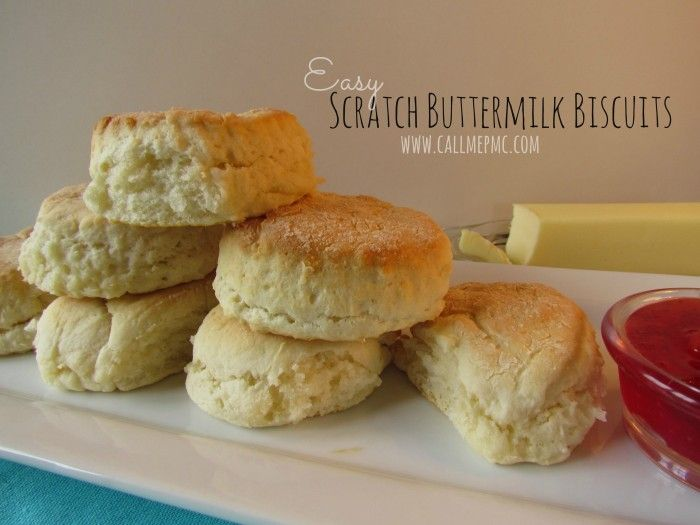 Easy Buttermilk Biscuits from Scratch (Food Processor)/ Call Me PMc #breakfast #Biscuits #callmepmc