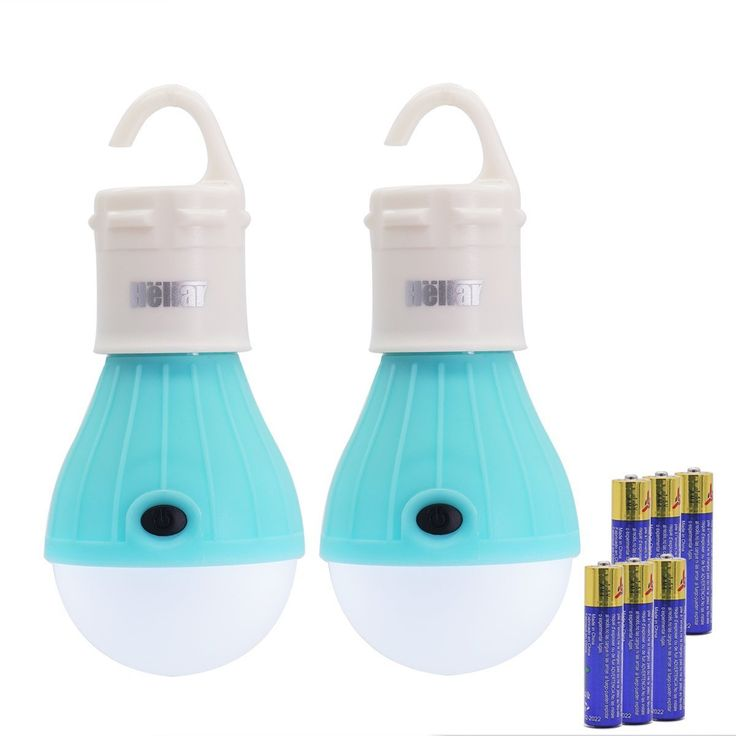 2 Pack Heliar Portable LED Lantern Tent Light Bulb for Camping Hiking Fishing Emergency Light, Battery Powered Camping Lamp with 6 AAA Batteries
