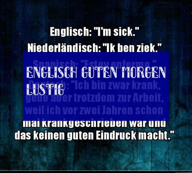 Englisch Guten Morgen Lustig 09242019 Guten Morgen