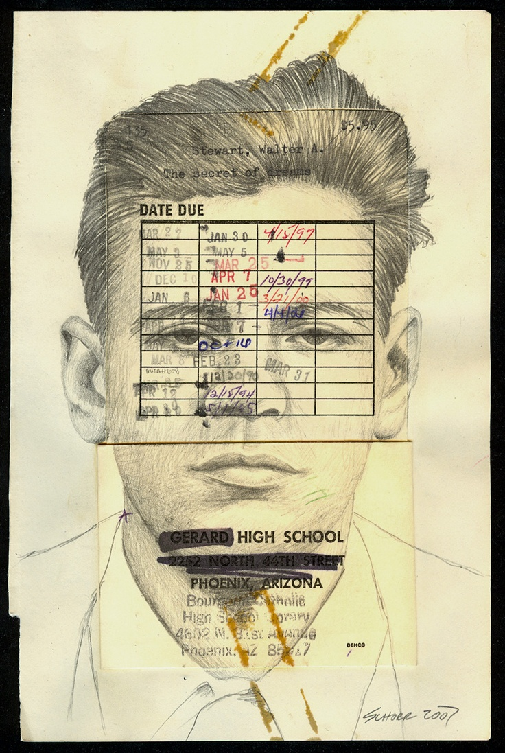 Otto Blotto's Library People - #drawing #book #page #portrait #face #pencil