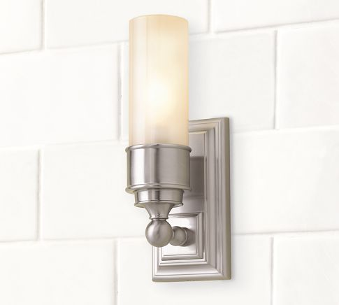 Bathroom Tube Sconces 19 best bathroom sconces images on pinterest | bathroom sconces