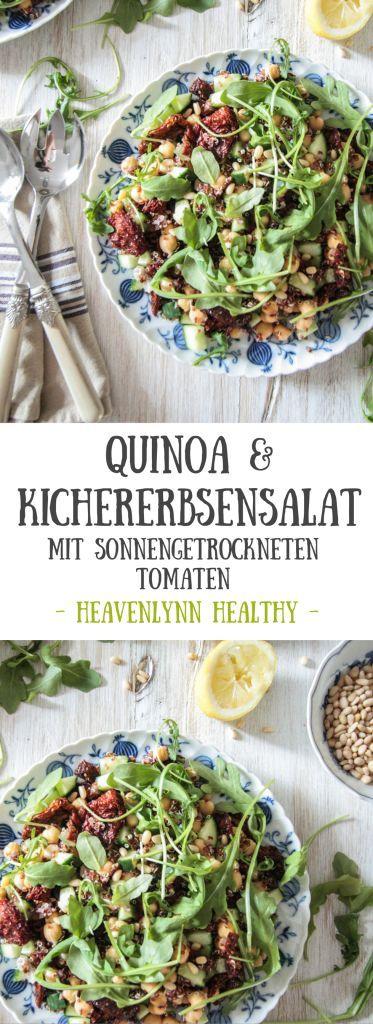 Quinoa-Kichererbsensalat mit sonnengetrockneten Tomaten - vegan, glutenfrei, gesund