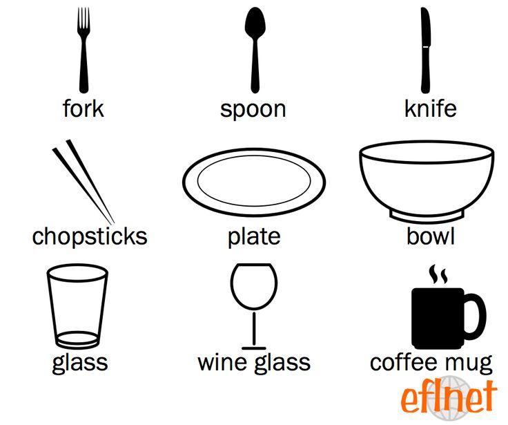 Tableware - Worksheet 1   EFLnet