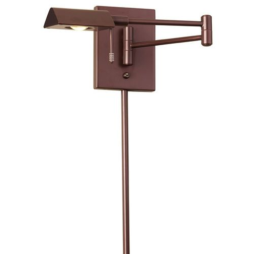 902WLED-OBB | LED Swing Arm Wall Lamp with Cord Cover,Oil Brushed Bronze Finish - 902WLED-OBB