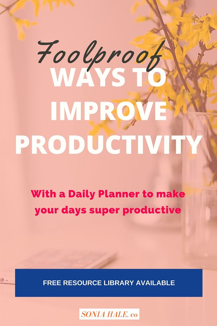 Productivity, Goal Setting, Increased Productivity
