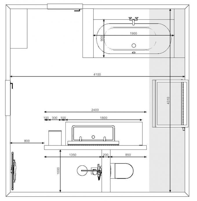 136 best referenties images on pinterest duravit and glass for Grondplan badkamer