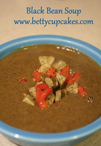 soup bettycupcakes bean soup blackbeans soup inexpensive dinner 70 ...