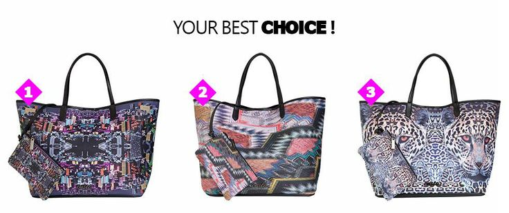 Which is your favorite? ¿Cuál es tu favorito?  Shop Custo Tote Bags ► http://bit.ly/CustoToteBags