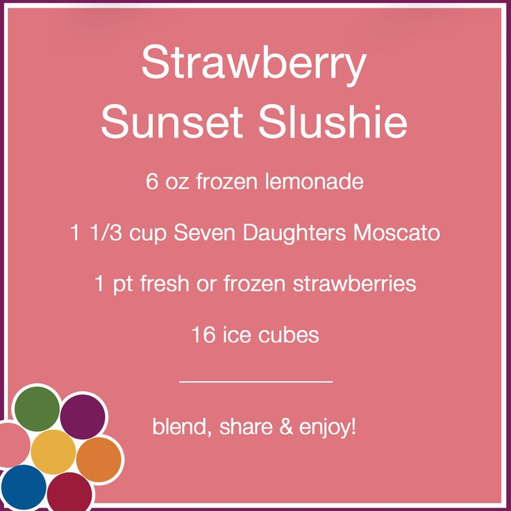 Wine slushies are super delicious - made with our Moscato!