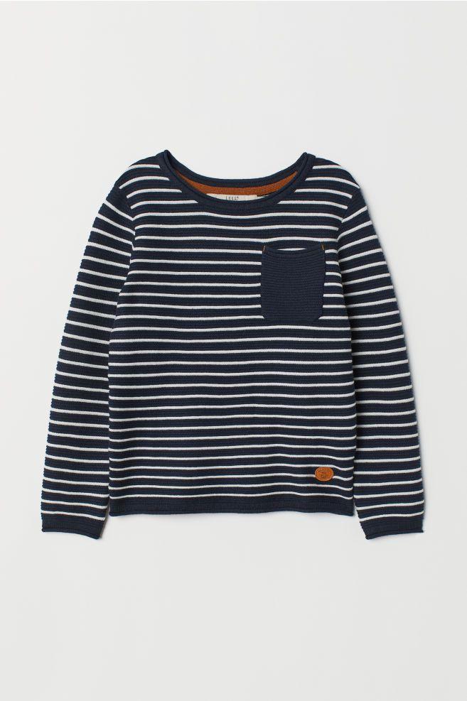 d4e5f0255a7 Knit Sweater | H&M - Boy | Sweaters, Boys sweaters, Blue sweaters
