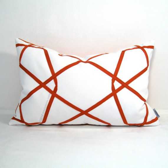 17 Best images about Orange - Modern Pillows by Mazizmuse Design Co on Pinterest Geometric ...