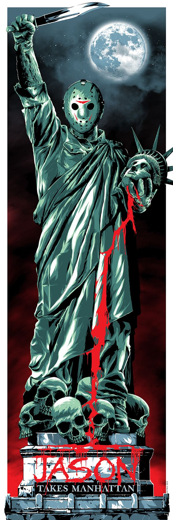 Friday the 13th Part 8: Jason Takes Manhattan - movie poster - Anthony Petrie