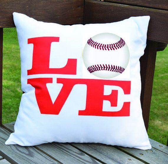 Baseball Love 18X18 Decorative Pillow Cover