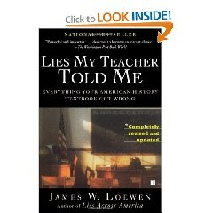"""Everything I always hated about history class is addressed in this book. A really intriguing read, Loewen offers a more balanced interpretation of American history that goes beyond the """"traditional"""" Eurocentric fairytale we're taught in K-12. He presents the information honestly and in a way that invites reflection rather than simple memorization. Read it.: James Of Arci, Worth Reading, American History, Book Worth, James D'Arcy, Teacher Told, Teachers, Lie, History Textbook"""