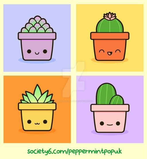 Kawaii succulents and cacti                                                                                                                                                                                 More