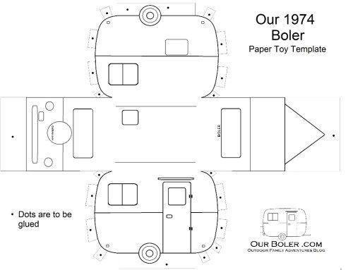 Boler Trailer Paper Toy Template