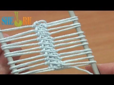 Hairpin Lace Strip Beautiful Cord In The Middle Tutorial 16 Single Crochet Around Loop - YouTube