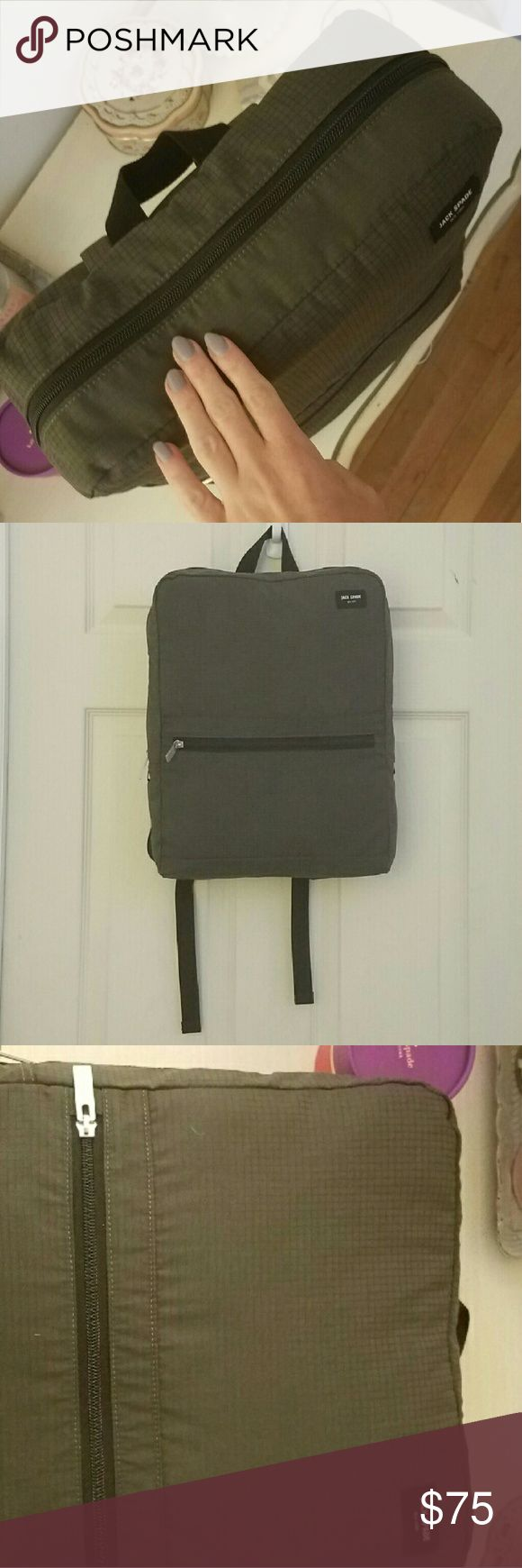 Jack Spade grid nylon backpack Army green backpack, new without tags Jack Spade Bags Backpacks