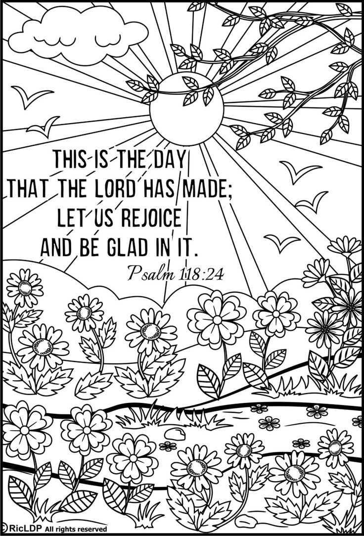 Free printable coloring pages for kids bible - 15 Printable Bible Verse Coloring Pages