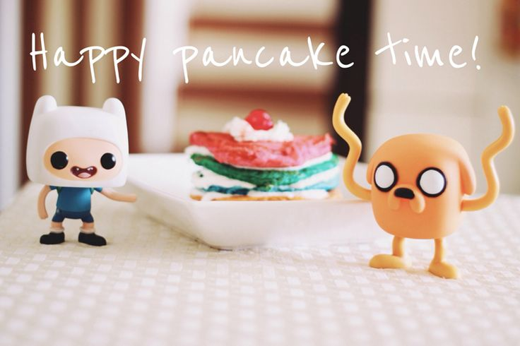 Happy pancake time: panquecas coloridas! Yummy!♡♥♡SOCORRINHO! Mt gostozinho*O* Gracinha ¤ co£oridinho MEU ARCO-IRIS EM FORMA DE COMIDA!! #rainbow  #adogguuu #vouengordar #valeapena ♡♥♡♥♡