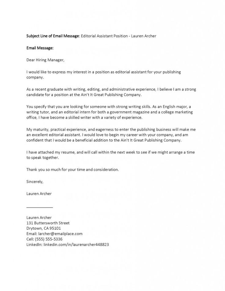 Editorial assistant cover letter template simple with graphic