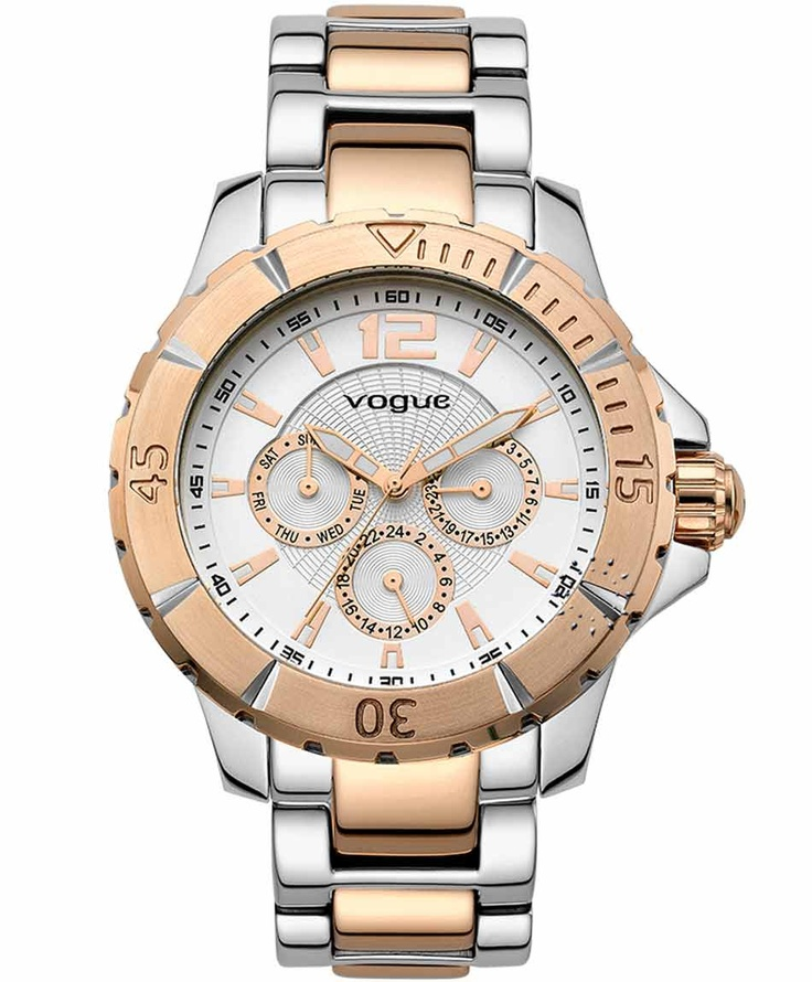 VOGUE City Two Tone Stainless Steel Bracelet  Τιμή: 215€  Αγοράστε το εδώ: http://www.oroloi.gr/product_info.php?products_id=31487