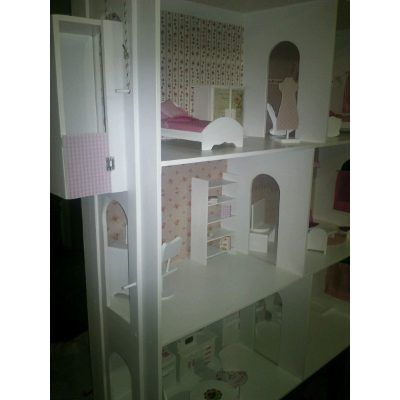 Casita De Muñecas Barbie.superxxl*4 Pisos*con Ascensor!1,50m - $ 5.299,00