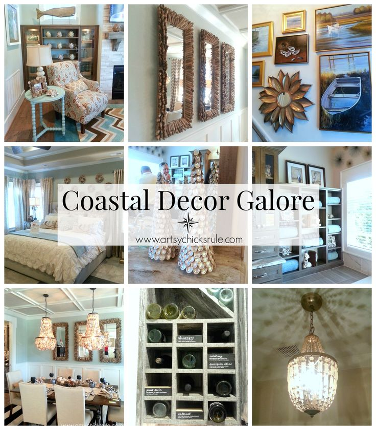 Coastal Decor Galore with tons of Inspiration and Unique Coastal Decor Items!