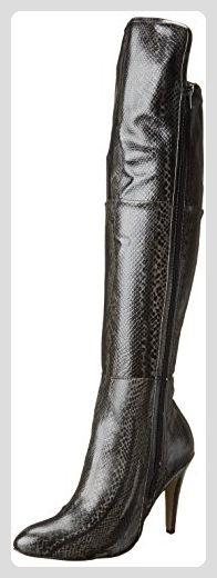 Mia Anastasia Spitz Schlangenleder Leder Wasserstiefel, Black Multi, 39 EU - Stiefel für frauen (*Partner-Link)
