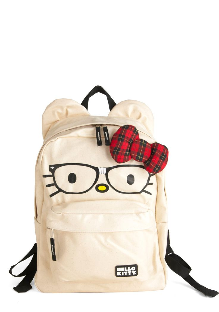 Cat's Out of the Backpack by Loungefly - Red, Black, Print with Animals, Cream, Bows, Kawaii