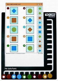 Rámik Logico Piccolo - univerzálny plastový rámik pre všetky tituly vzdelávacieho systému. Rámik s 10 farebnými gombíkmi.