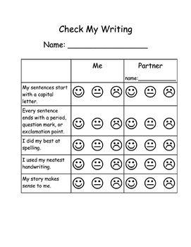 Grade 1 writing assessment tools