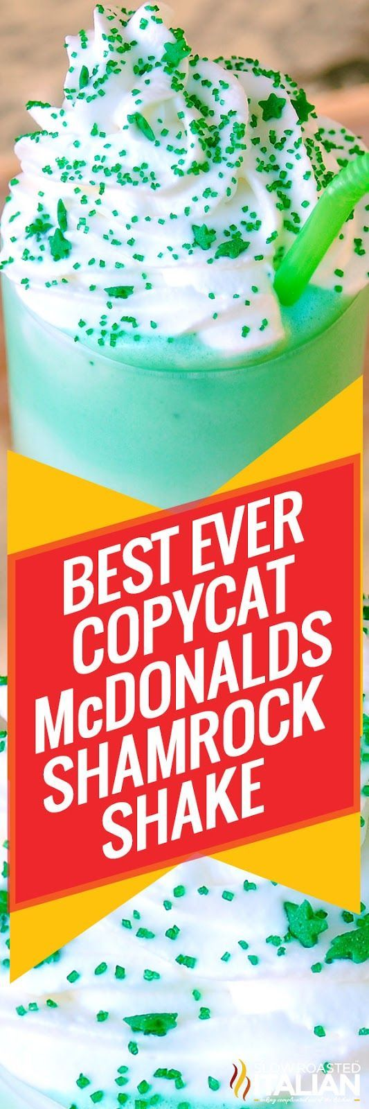 McDonald's Shamrock Shake Copycat recipe is a perfectly creamy mint shake topped with homemade whipped cream and sprinkles to make this a superb St. Patrick's Day shake. They're only seasonally available at McDonald's, but now with this easy recipe you can have one anytime. Simple and so delicious you may never have to buy one again!