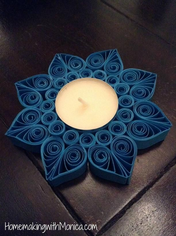 Quilled Tealight Candle Holder