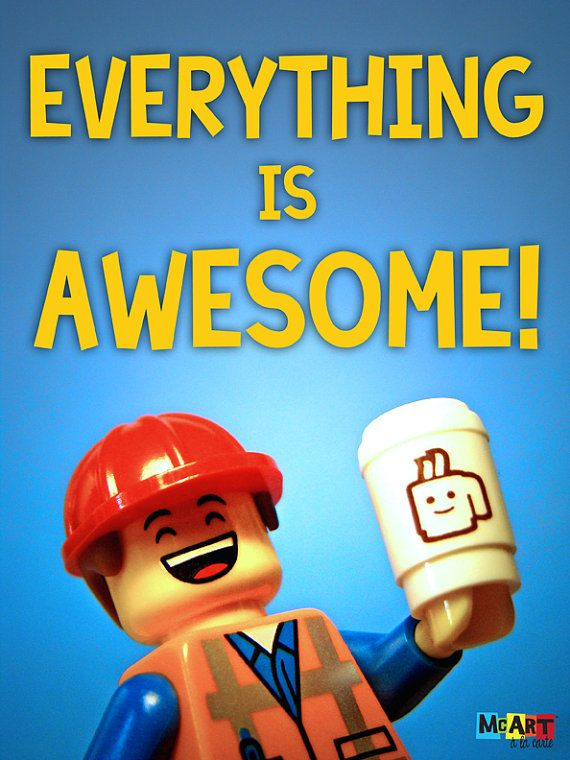 Lego Movie Minifig Scene Print  Everything Is by mcartalacarte, $8.00 #LegoMovie #EverythingIsAwesome