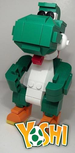 Lego Sculpture Super Mario Brothers Yoshi So Cool!