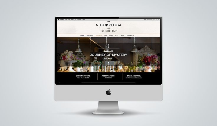 """http://www.newnormal.co.za/work/showroom/ """"For the website it was important to communicate the same feeling you would find in store. We had to communicate what it looked like, their unique combination of modern and vintage items and their creative spin on things. It had to feel like you're walking into the store"""""""
