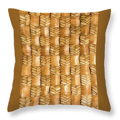 Flax Throw Pillow featuring the photograph Weaving Flax - Gold by Wairua o te Moana