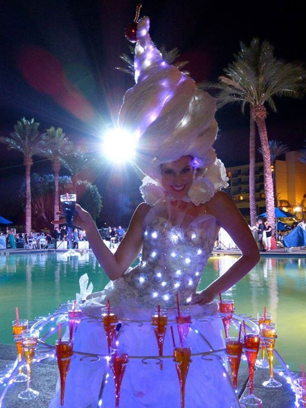 Led Light Up Costume Drink Dress By Way 2 Much