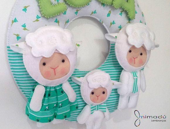 Guirlanda Família Ovelha