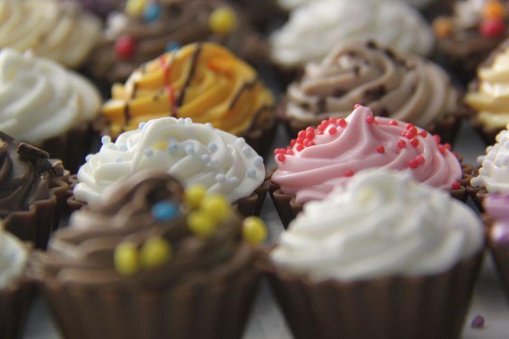 Cupcakes de chocolate #chocolate